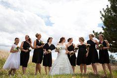 The Dessy Twist Wrap Dress as bridesmaid dresses. via blog.bridesmaid.com #bridesmaids #dresses