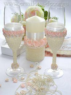 Свадебные бокалы ручной работы | Страна Мастеров