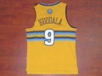 Denver Nuggets NBA #9 Yellow Andre Iguodala Jersey [F361]