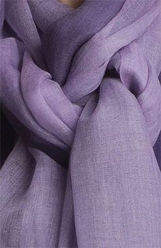Lavender Eileen Fisher Ombré Featherweight Wool Scarf