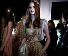 Throwback to this royal moment captured backstage at the ELIE SAAB Haute Couture Autumn Winter fashion show. #ShadesOfGold
