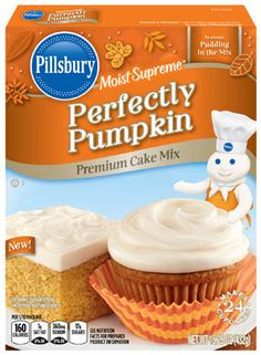Perfectly Pumpkin Cake Mix, Pillsbury, General Mills, Inc. One General Mills Boulevard Golden Valley, Minnesota, U.S. and the J.M. Smucker Company, Orrville, Ohio, United States.