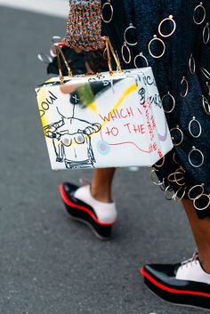 Paris Fashion Week Streetstyle by The Petticoat -Michelle Elie Marc Jacobs Bag after Stella McCartney: