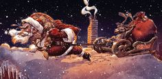 beautiful, Christmas, creative, Illustrations, Inspiration, xmas, holidays, art, design, artists, santa