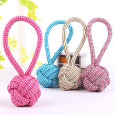 Ennc 3 Pack Pet Chew Toy Braided Cotton Rope Knot Tug Dog/Cat Toys Cleaning Teeth and Molar Ball, Multi-colored * More info could be found at the image url. (This is an affiliate link and I receive a commission for the sales) Dog Chew Toys, Cat Toys, Beagle, Cleaning Toys, Teeth Cleaning, Dog Toys Amazon, Cotton Rope, Woven Cotton, Dog Shower