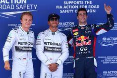 Nico Rosberg, Lewis Hamilton and Daniel Ricciardo @ 2014 Perelli #F1 Spanish Grand Prix