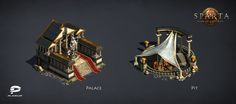ArtStation - Sparta. War of Empires. Plarium, Maksym Kabat