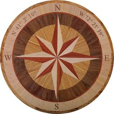 Best  diameter hardwood floor medallion inlay in pass rose style FloorMedallions CompassRose