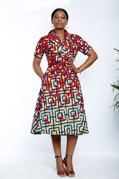 African Print Dress Designs, African Print Dresses, African Dresses For Women, African Print Fashion, Africa Fashion, African Attire, African Fashion Dresses, Ankara Fashion, African Prints