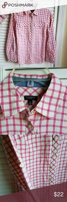 Talbots Petite Shirt Talbots Petite Shirt. Never worn, sleeve can be rolled up. Talbots Tops Button Down Shirts