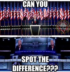 Trump is PROUD of the American Flag! Republican Convention vs Democrat Convention! Trump for President!!