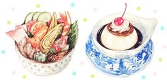 21 Days in Japan: An Illustrative Study of Japanese Cuisine by Justine Bacon Wong @justinew