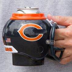 #NFL 10359 chicago bears team fan mug (holds cans & bottles) plus removable cup from $12.73
