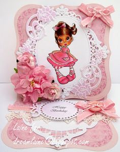 Dream Laine: Birthday Girl in Pink for Totally Papercrafts Challenge