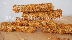 Barrinhas de aveia, corn flakes e compota de laranja