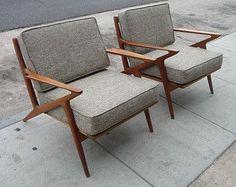 Pair of Selig Z Chairs Mid Century Modern Danish Chairs Danish Teak Chairs Teak…