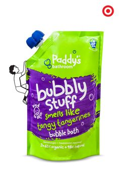 Keep your kids squeaky clean and safe from parabens, sulfates and all that other yucky junk with Paddy's Bubbly Stuff. This gentle cleansing shampoo smells like real fruit and makes getting clean as much fun as getting dirty.