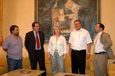 Recepción al presidente del estado de Israel, Excmo Sr. Moshé Katsav por parte de la Diputación. En la foto, el Diputado Delegado de Recurso...