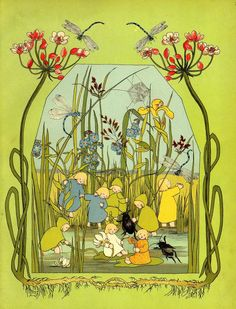 Old German children's book about children who live underground.  Amazing illustrations!