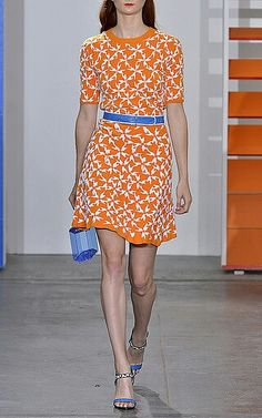What could be better for Spring than tangerine? By Tanya Taylor at Owen in NYC. Tart!