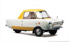 Les Microcars, des mini voitures anciennes,Frisky Family Three 1959 This looks like a cartoon car! Bmw Isetta 300, Carros Vintage, Mini Car, Ford Galaxie, Weird Cars, Cute Cars, Funny Cars, Unique Cars, Small Cars
