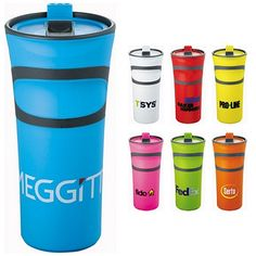 NEW DRINKWARE Promotional 18 oz Groovy Double Wall Tumbler #1623-50 #drinkware #advertising | Customized Tumblers | Logo Tumblers