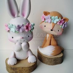 Valentine Day Crafts, Easter Crafts, Crafts For Kids, Cute Polymer Clay, Cute Clay, Farm Animal Cakes, Woodland Cake, Clay Cup, Festa Party