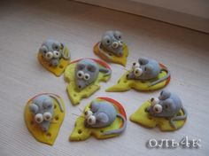 tuto souris fromage porcelaine froide