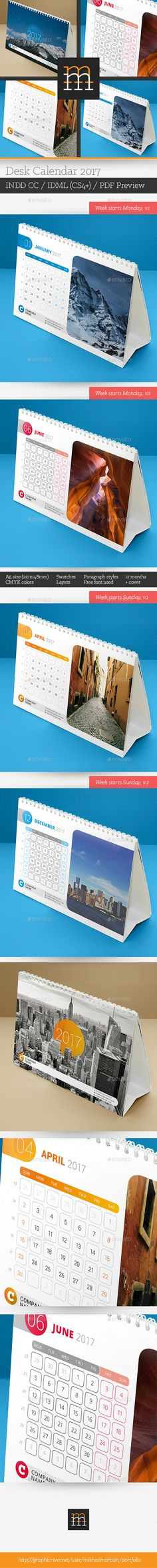 Desk Calendar   Desk Calendars Calendar Design And Template