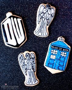 Do. Need. Want. Make. Oh.My.God.     *breathes* I SO want to make these, at least the Tardis & DW symbol. The weeping angels give me nightmares, sooo.....yes. But just...WOW these are AMAZING. And even if I despise the angels, I can't deny the detail on these buggers is INCREDIBLE!