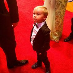 Best dressed tonight easily goes to this little man Keelan Harvick #NASCAR