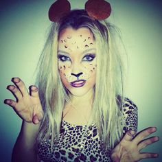 halloween cheetah makeup!