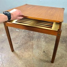 Shop Chairish, the design lover's curated marketplace for the best in vintage and contemporary furniture, decor and art. Mcm Furniture, Table Furniture, Furniture Design, Table Games, Danish Modern, Porch Decorating, Game Room, Card Games, Teak