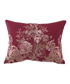 Take a look at this Vintage Red Ballad Bouquet Waverly 20'' Throw Pillow by Ellery Homestyles on #zulily today!