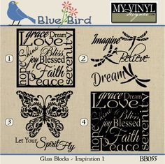 My Vinyl Designer Vinyl Crafts, Vinyl Projects, Glass Block Crafts, Glass Brick, Glass Etching, Etched Glass, Paper Lace, Holiday Gift Tags, Glass Boxes