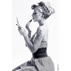 Pin up art/Rockabilly style ❤ liked on Polyvore