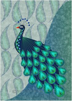 Picture African Design, Peacocks, Birds, Illustration, Pictures, Animals, Photos, Animales, Animaux