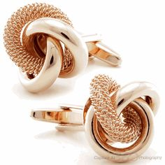 Rose Gold English Knots Cufflinks, Fine Men's Jewelry from Cufflinksman