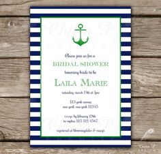 Nautical Baby Shower Invitation Printed or Printable by chitrap