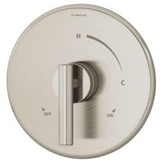 Symmons 3500-CYL-B-X Dia Shower Valve Trim with Temptrol Mixing Valve and Service Stop, Silver