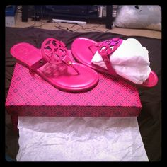 Tory burch miller size 7.5 Brand new tory burch miller 7.5 fushia new in box never worn Tory Burch Shoes