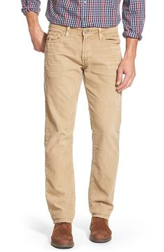 AG 'Graduate' Tailored Straight Leg Corduroy Pants available at #Nordstrom