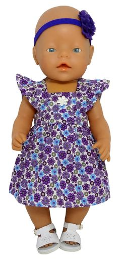 For those that prefer purple, I now have my popular pinafore dress available in purple. This cute dress has frill sleeves and a flower detail on the bib. Can be worn with or without a t-shirt underneath. Dress fastens at the back with a Velcro strip.