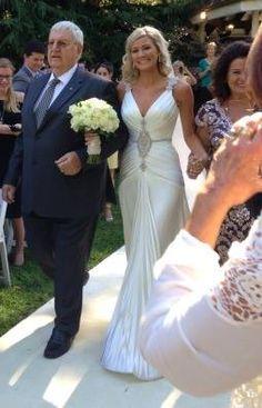 Celine Turner wearing Baccini & Hill - Alphia gown