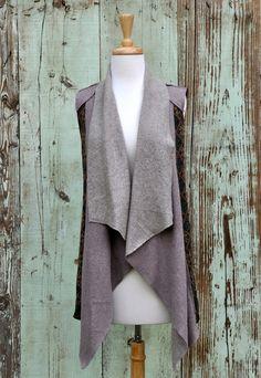 Shearling Cascade Vest, $44