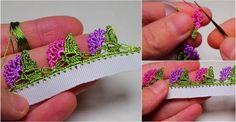 Yamaç Çiçekli Tığ Oyası Yapılışı Crochet Projects, Diy And Crafts, Crochet Earrings, Crochet Patterns, Miniatures, Embroidery, Flowers, Jewelry, Crochet Stitches