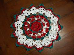 Resultado de imagen para carpetas a crochet de navidad