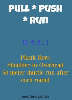 You only need dumbbells and running for this workout! http://carrotsncake.com/2015/12/dumbbells-running-workout.html
