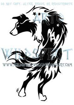 small border collie tattoo - Google Search