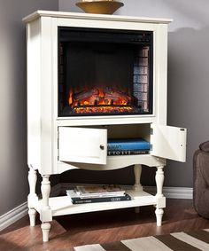 Love this Antique White Providence Fireplace Tower by Southern Enterprises on #zulily! #zulilyfinds